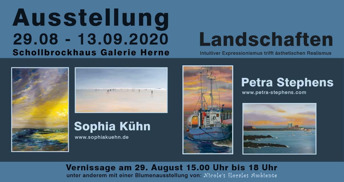 29.08 bis 13.09.2020: Landschaften im Schollbrockhaus Herne